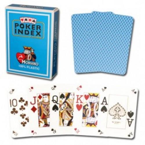 Modiano Poker Index - Light Blue